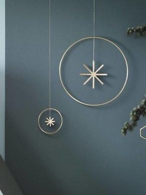 ferm LIVING Winterland Brass Star - Small