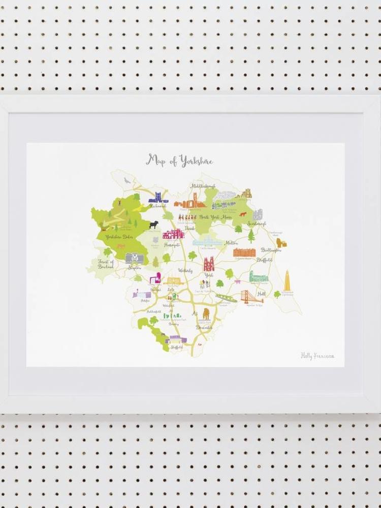 Holly Francesca Holly Francesca Map of Yorkshire A3
