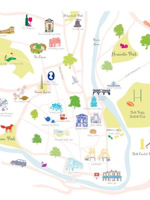 Holly Francesca Map of Bath - A3