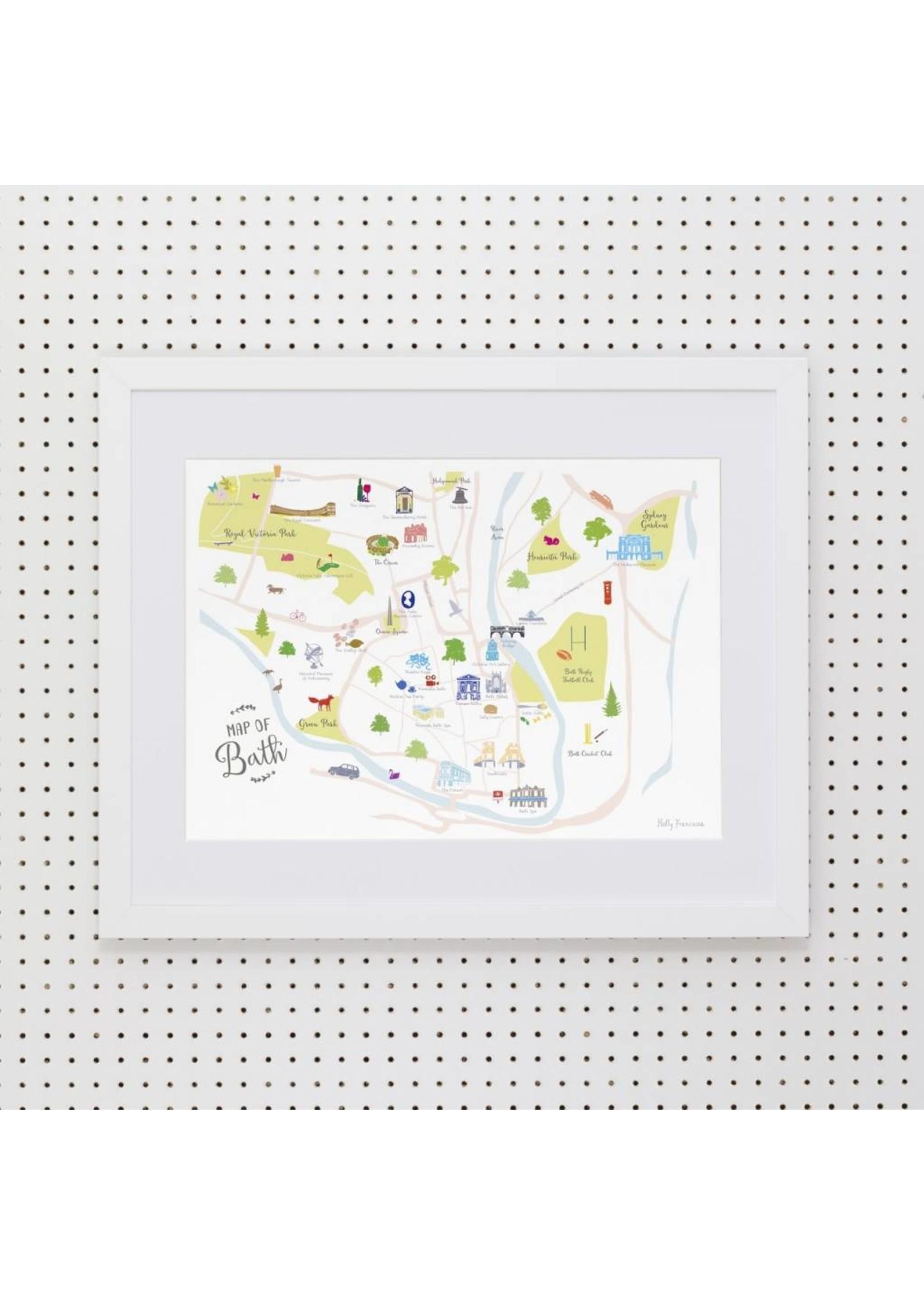 Holly Francesca Holly Francesca Map of Bath - A3