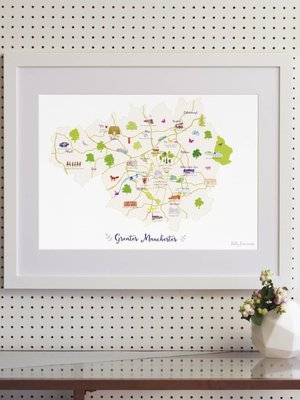 Holly Francesca Holly Francesca Map of Greater Manchester - A3