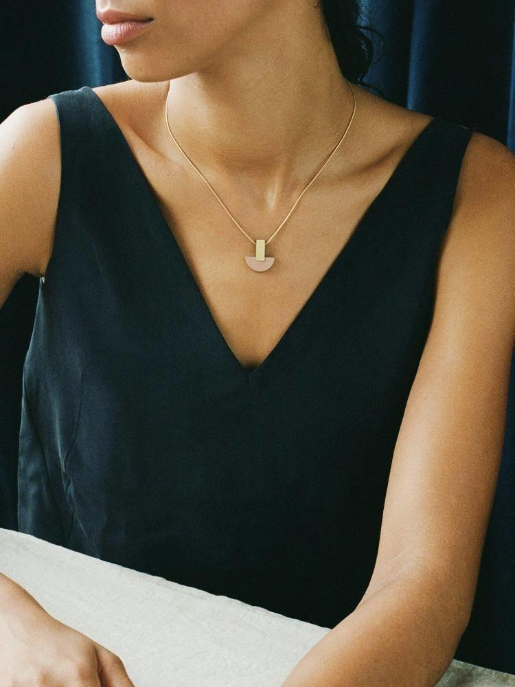 Wolf & Moon Wolf & Moon Crescent Necklace