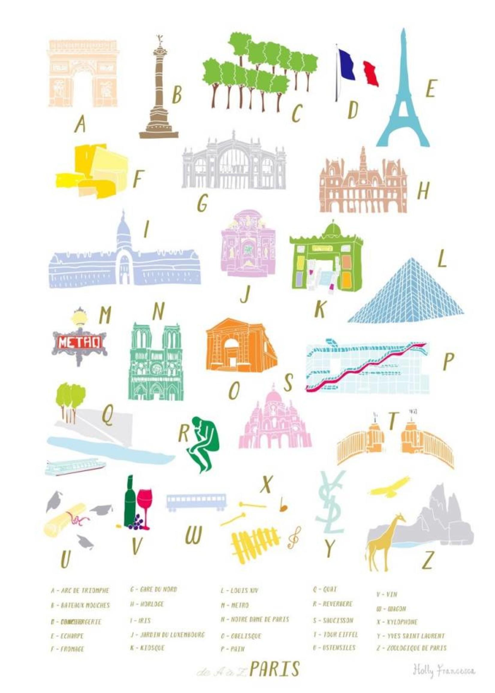 Holly Francesca Holly Francesca A-Z of Paris - A3