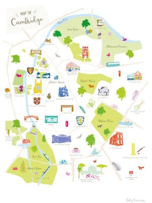 Holly Francesca Map of Cambridge - A3