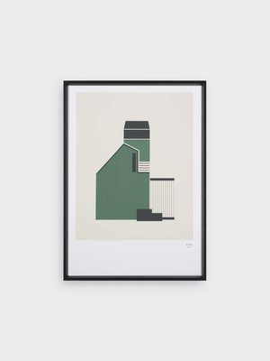 Tom Pigeon Tom Pigeon Tin Shed 3 - Forest Print - A3