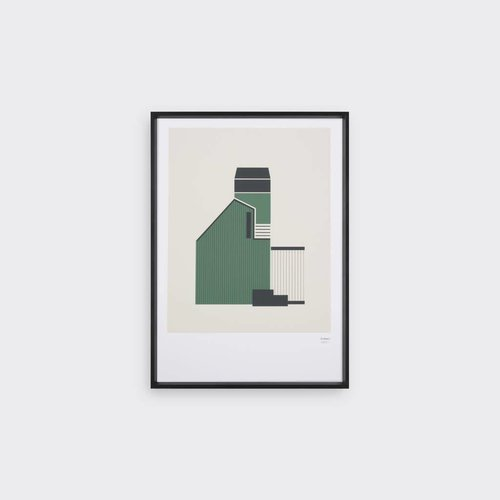 Tom Pigeon Tin Shed 3 - Forest Print - A3