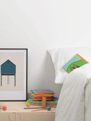 Tom Pigeon Tin Shed 2 - Blue Print - A3