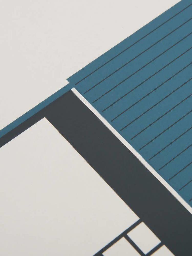 Tom Pigeon Tom Pigeon Tin Shed 2 - Blue Print - A3