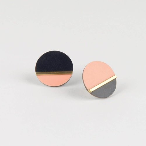 Tom Pigeon Form Disc Earrings