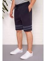 'AGASSI' Navy Stripe Jersey Short