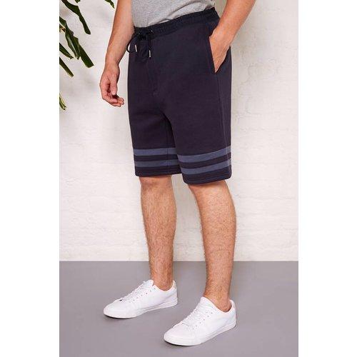 HYMN London 'AGASSI' Navy Stripe Jersey Short