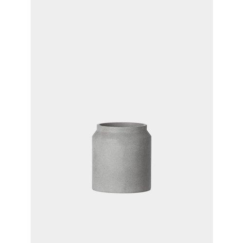 ferm LIVING Concrete Plant Pot - Light Grey - Small