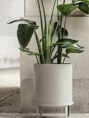 ferm LIVING Bau Plant Pot - Warm Grey - Large