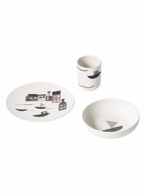 ferm LIVING Seaside Bamboo Dinner Set
