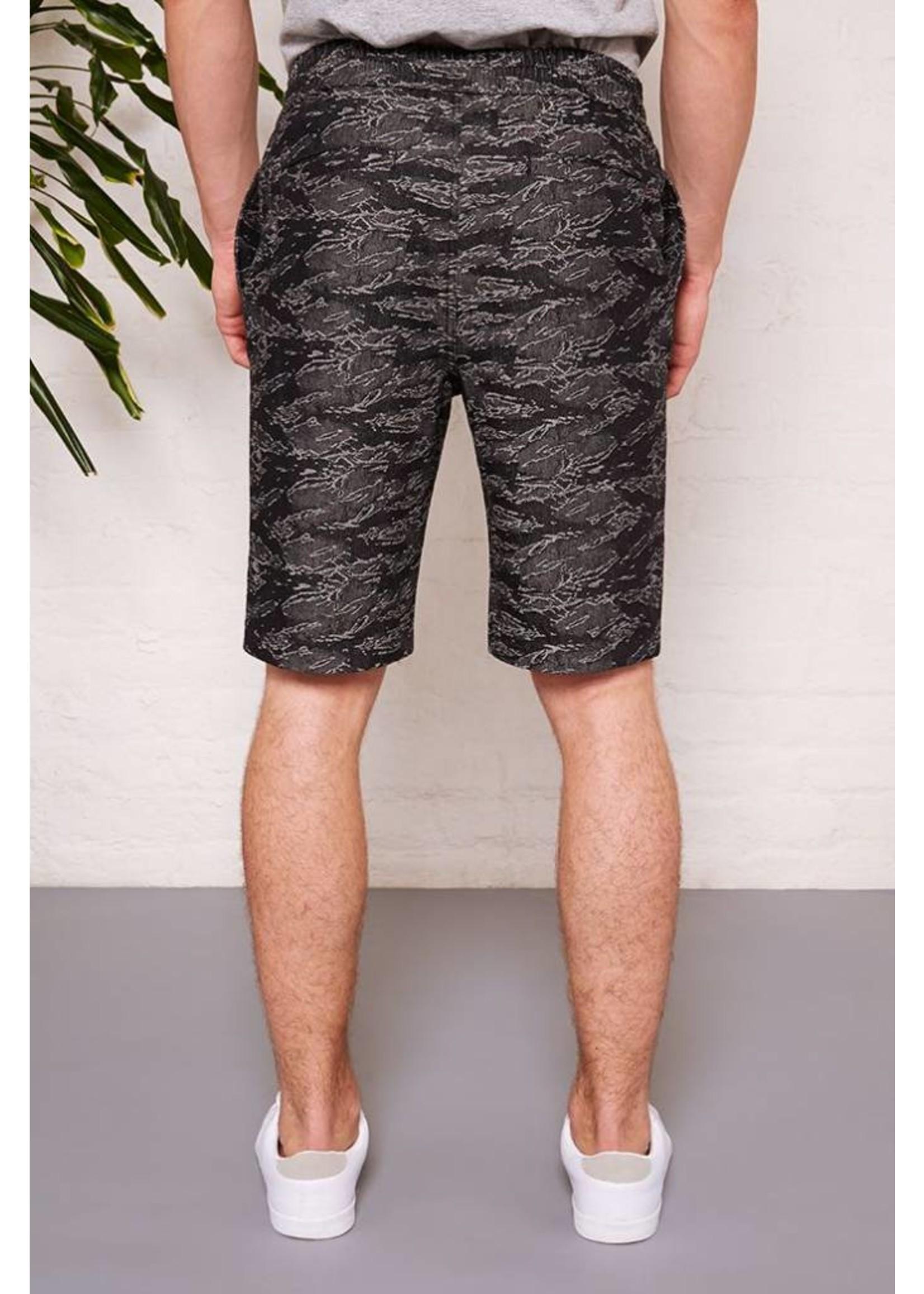 'TREK' Denim Cammo Shorts