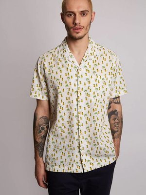 HYMN London 'SPENCER' Pineapple Print Resort Shirt - Small