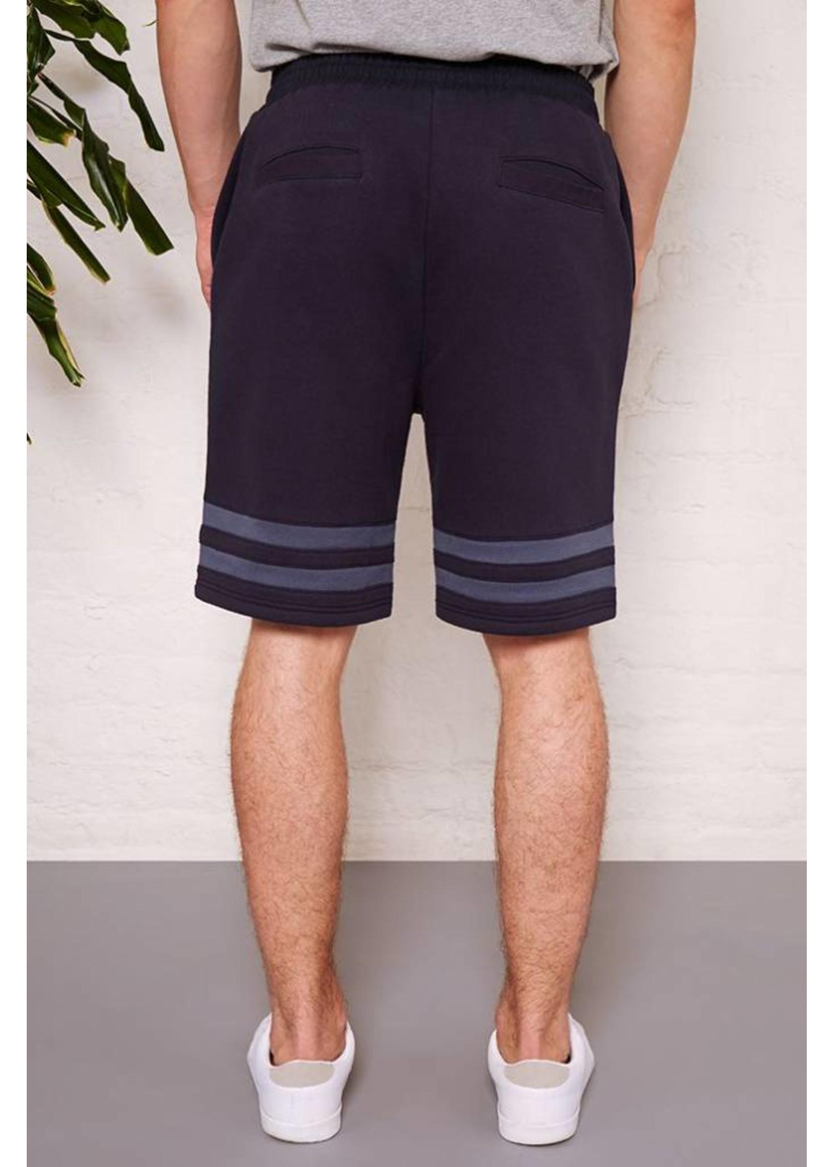 Hymn 'AGASSI' Navy Stripe Jersey Short