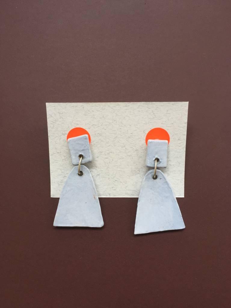 Alice Johnson Alice Johnson Ceramic Bell Earrings - Dusty Blue