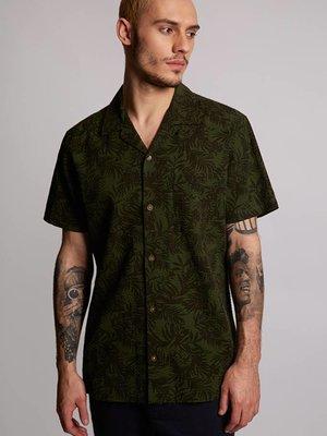 HYMN London 'CHIP' Tropical Leaf Resort Shirt - Small