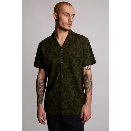 HYMN London 'CHIP' Tropical Leaf Resort Shirt