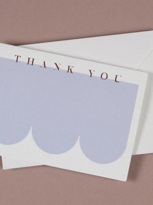 Ola Foil Blocked Cards: Thank You Blue/RoseGold