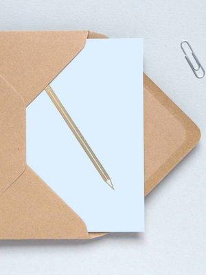 Ola Foil Blocked Cards: Pencil Blue/Brass