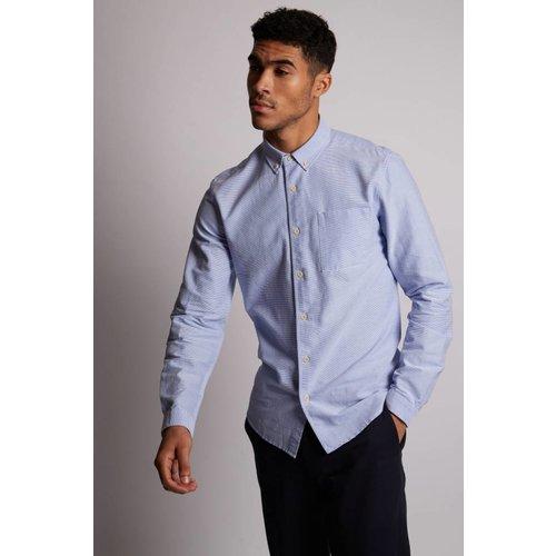 HYMN London 'KEEGAN' Textured Blue Shirt