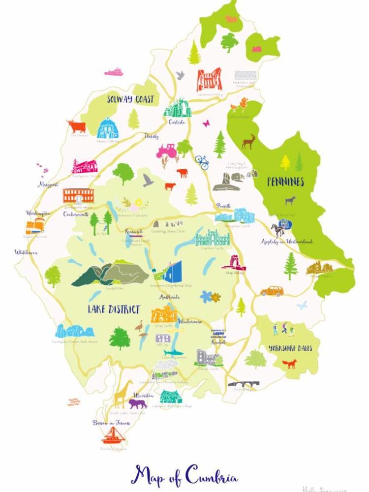 Holly Francesca Holly Francesca Map of Cumbria A3