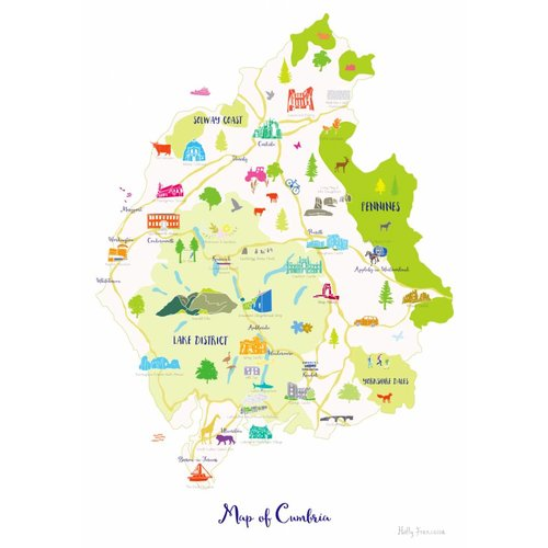 Holly Francesca Map of Cumbria A4