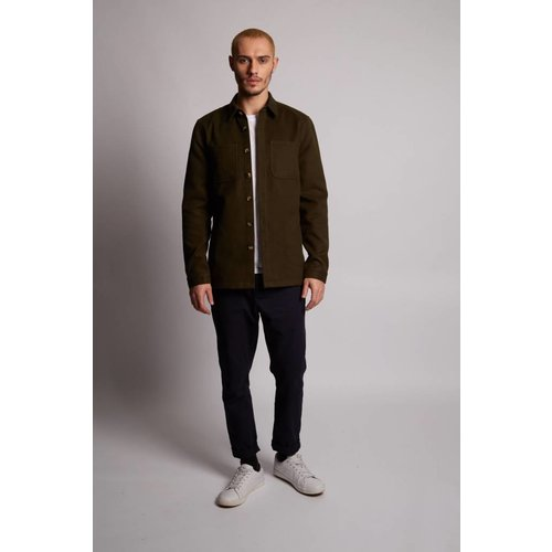 HYMN London 'WATTLE' Khaki Fleece Overshirt