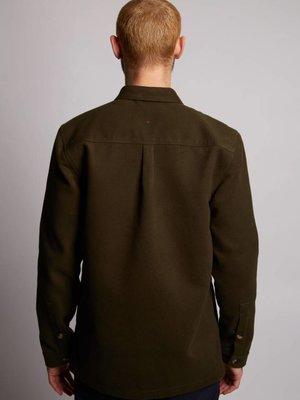HYMN London HYMN 'WATTLE' Khaki Fleece Overshirt