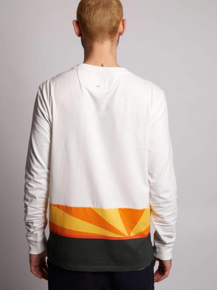 HYMN London HYMN 'NIGHTFALL' Sunset Colour Block Long Sleeve Top