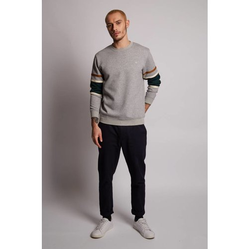 HYMN London 'TRAVEL' Textured Grey Sweatshirt
