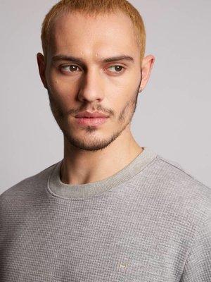 HYMN London HYMN 'TRAVEL' Textured Grey Sweatshirt