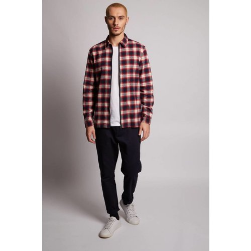 HYMN London 'TRAIL' Check Red Navy Overshirt