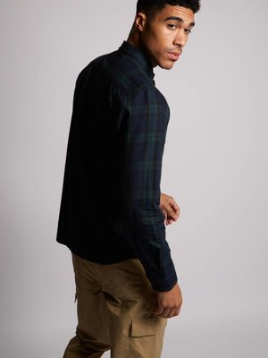 HYMN London 'DOUGLAS' Brushed Tartan Check Shirt