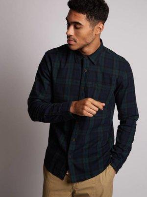 HYMN London HYMN 'DOUGLAS' Brushed Tartan Check Shirt