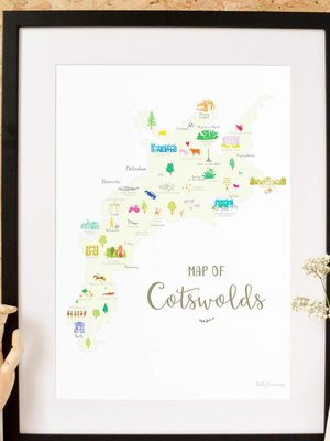 Holly Francesca Holly Francesca Map of the Cotswolds A4