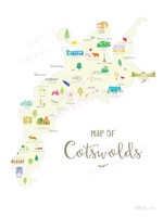 Holly Francesca Map of the Cotswolds A4