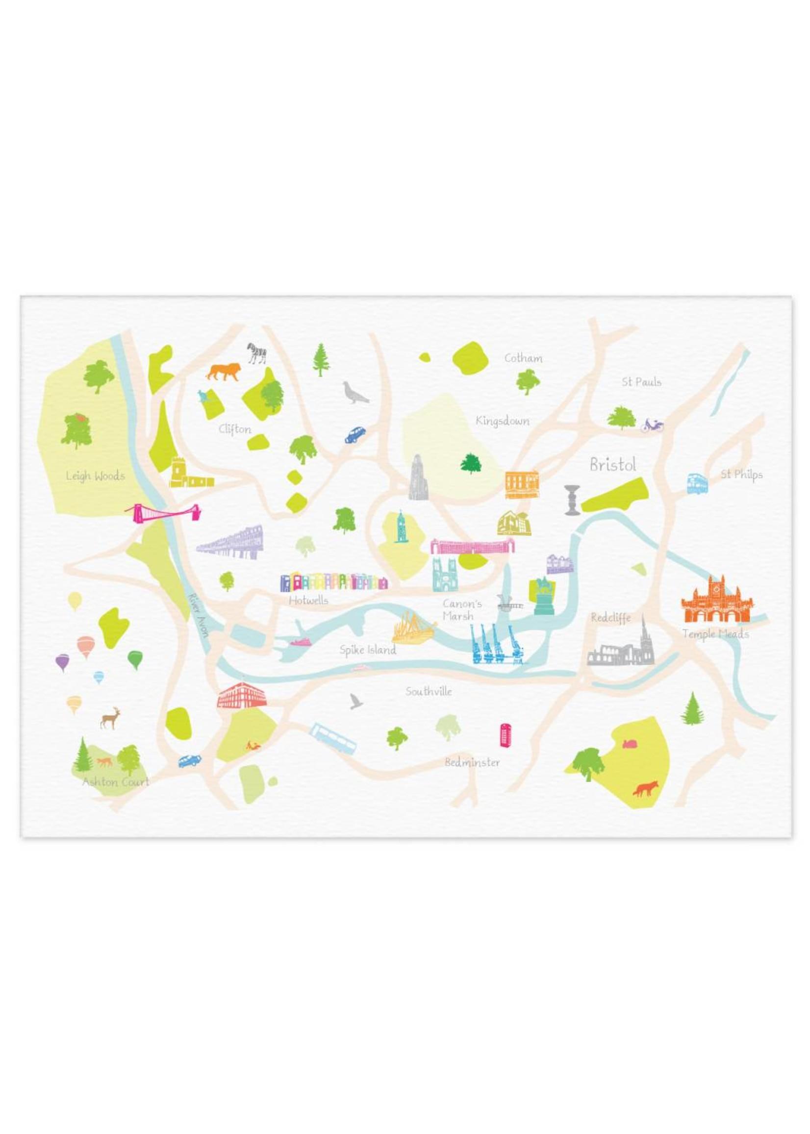 Holly Francesca Holly Francesca Map of Bristol A4