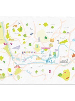 Holly Francesca Map of Bristol A4