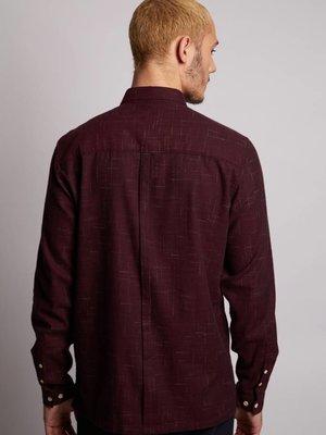 HYMN London HYMN 'SHARK' Red Brushed Crosshatch Shirt