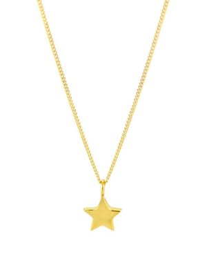 Laura Gravestock Dainty Star Necklace 18ct Gold Plated Silver