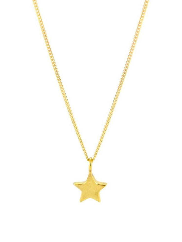 Laura Gravestock Laura Gravestock Dainty Star Necklace 18ct Gold Plated Silver