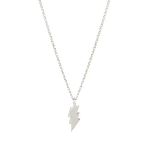 Laura Gravestock Dainty Lightning Necklace Sterling Silver