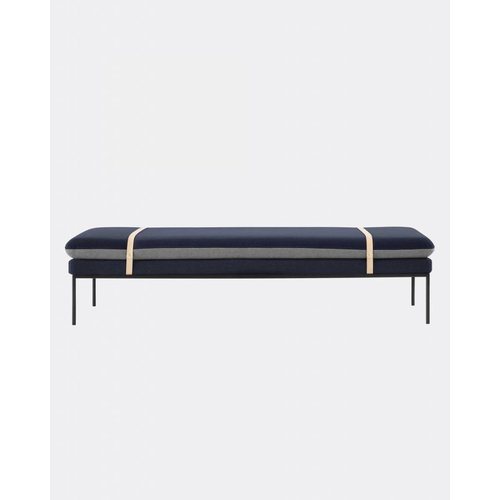 ferm LIVING Turn Daybed - Wool - Harness Leather Straps  - 7 Colour Options