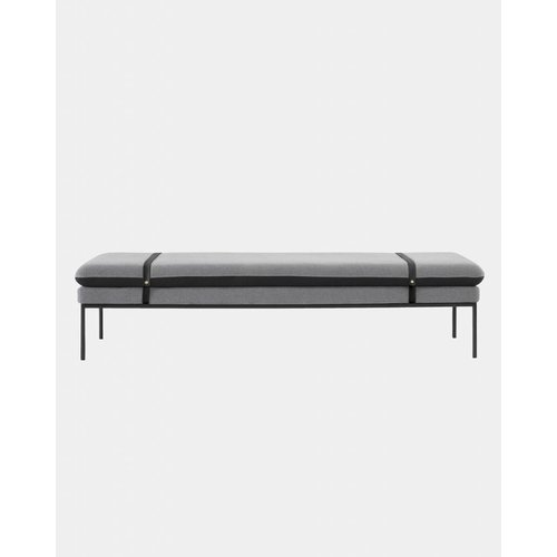 ferm LIVING Turn Daybed - Wool - Black Leather Straps  - 7 Colour Options