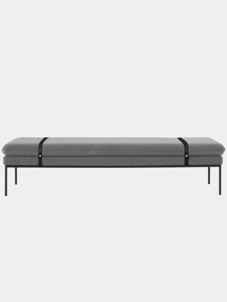 ferm LIVING ferm LIVING Turn Daybed - Wool - Black Leather Straps