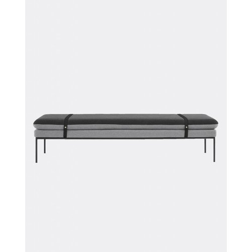 ferm LIVING Turn Daybed - Cotton - Black Leather Straps  - 5 Colour Options