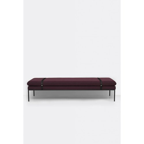 ferm LIVING Turn Daybed - Fiord - Black Leather Straps  - 6 Colour Options